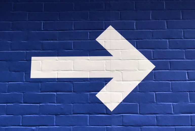 arrow showing direction